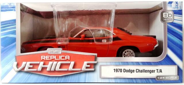 1970 DODGE CHALLENGER T//A 340 6 PAK 1:24 WELLY Diecast Replica Vehicle Model Car