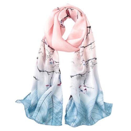 100/% Silk Satin Women Scarf neckerchief  Shawl large Wrap pink blue red S244-001