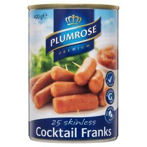 Plumrose Cocktail Frankfurts 25 pack 400g