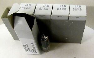 6AK6-GE-General-Electric-JAN-Tube-Lots-of-5-Pieces