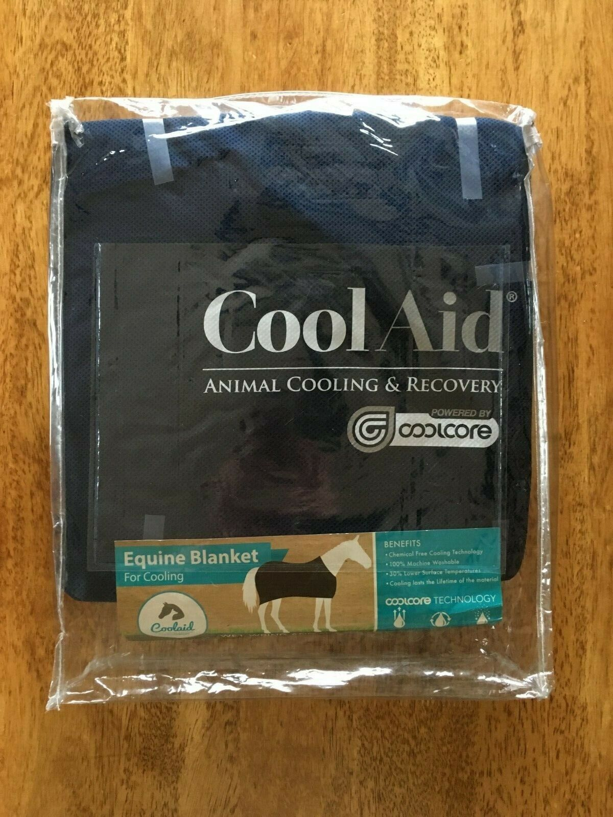 BRAND NEW Coolaid Equine Cooling Recovery Sheet SMALL 69   NAVY - Use Dry or Wet  100% price guarantee