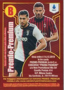 CALCIATORI-PANINI-ADRENALYN-XL-2019-20-PREMIO-PREMIUM-CARD-B
