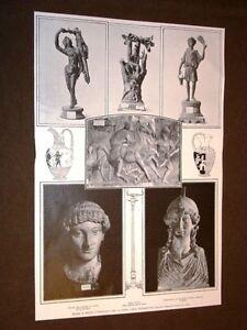 Anno-1905-Marmi-e-bronzi-d-039-Ercolano-per-la-prima-volta-fotografati
