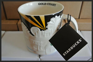 About Starbucks 'relief' Collectors 16oz Australia Mug Details Coast Series Gold Ceramic 8OP0wkn