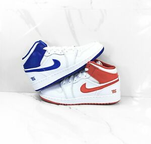 Details about Nike Air Jordan 1 Mid SE GS 85 White Red Blue Shoes AJ1 DH0200-100 Free Shipping