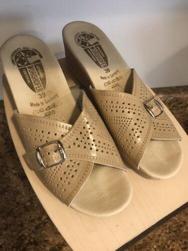Worishofer Slides Lightweight All Leather Women's