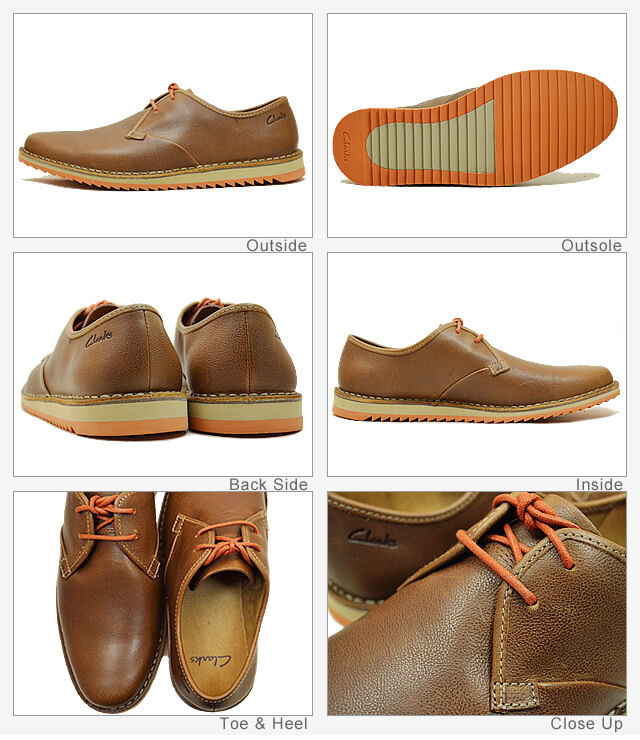 Clarks  Mens   MAXIM FLOW  TOBACCO LEATHER TRENDY,STYLE