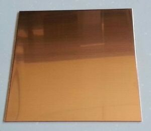 "Copper Sheet Plate .0431"" 32oz 18 gauge 12"" x 24"""