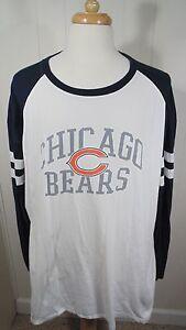 separation shoes 44de0 2cde7 Details about Chicago Bears Long Sleeve T-Shirt Men's 3XL NFL Team Apparel  White&Blue