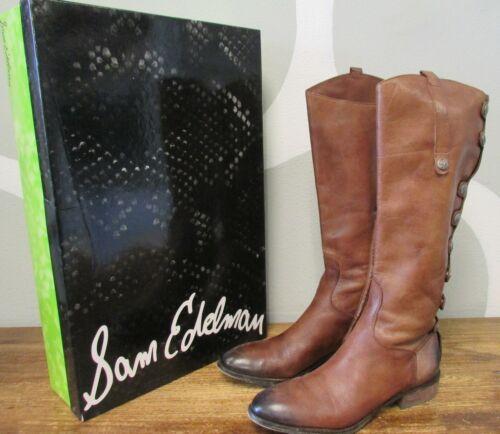 SAM EDELMAN Phallon Whiskey Burnished Leather 8 Sn