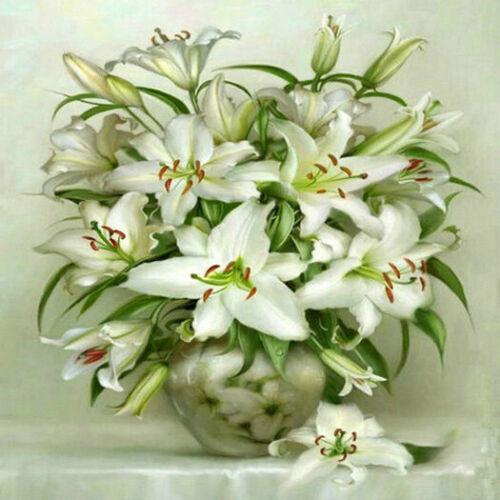 Pintura De Diamante 5D puntada cruzada Flores Bordado Kit De Arte Decoración de artesanía Hazlo tú mismo