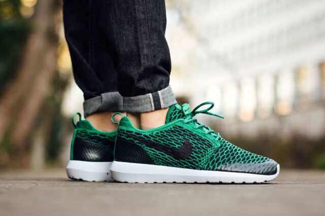 huge discount 6e58f e1b05 ... greece nike roshe nm flyknit se running trainers shoes gym casual green  various sizes ba6bd 9f803