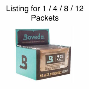 NEW-Boveda-72-RH-Humidity-Control-Large-60-Gram-Size-Individually-Wrapped
