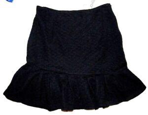 Jupe Courte Femme Stretch S Ou M Ou L Volant Noir Neuf Effet Nid D Abeille Noire Ebay