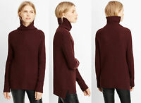Vince Wool Cashmere Directional Rib Turtleneck Sweater In Wysteria Sz M $385