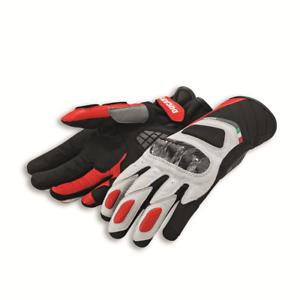 Original Ducati Sport c3 Gants Moto Gants Neuf Cuir Rouge