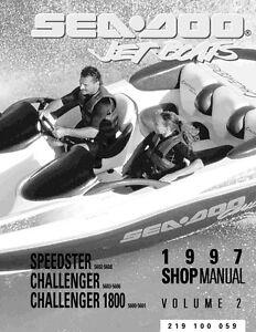 new sea doo 1997 speedster challenger 1800 shop repair manual rh ebay com 1997 seadoo sportster service manual 1997 sea doo speedster shop manual