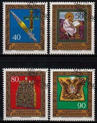 Europa Treu Liechtenstein Minr 673/76 O Reichskleinodien Aus Der Schatzkammer Wir Haben Lob Von Kunden Gewonnen