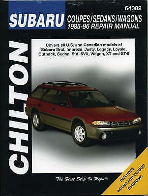 Chilton Subaru Coupes/Sedans/Wagons 1985-96 Repair Manual