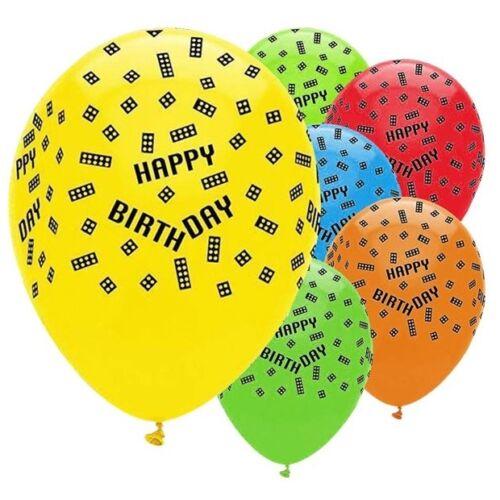 "12"" Lego Blocks Party Birthday Latex Helium Quality Balloons 6pk | eBay"