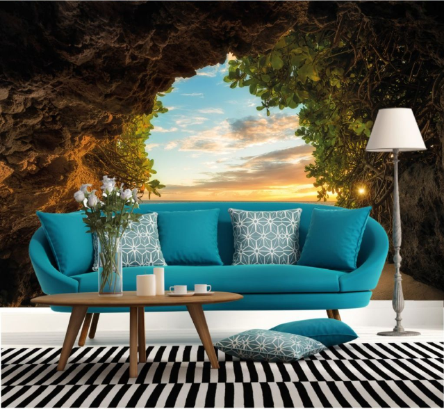 3D Sunset Mounta Cave 15 Paper Wall Print Wall Decal Wall Deco Indoor Murals