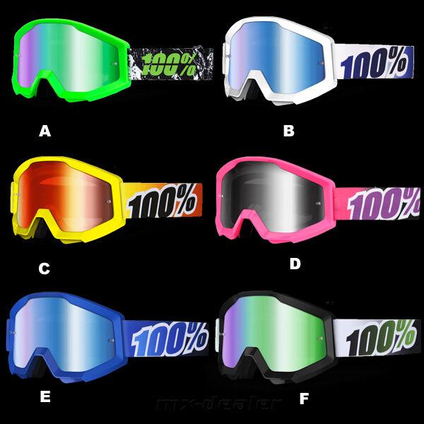 100% Por Cien Gafas Strata CIAN GAFAS MOTOCROSS ENDURO Downhill MTB CROSS BMX