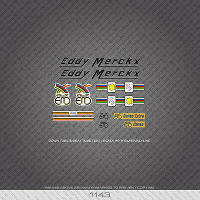 Blue With Silver Key Decals 01137 Eddy Merckx Bicycle Stickers Transfers
