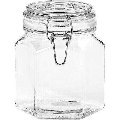 2x Tala 1.2L Glass Dry Food Storage Preserving Jar Clip Top Bamboo Lid Airtight