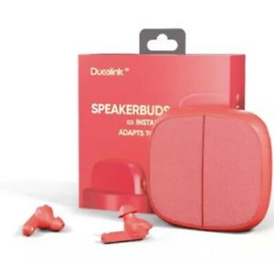 Duolink Bluetooth Lautsprecher und Knospen-rot
