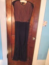 Vtg 20's- 30's Black Beaded Bodice Gown Dress Blum's Vogue Chicago GLAMOROUS!