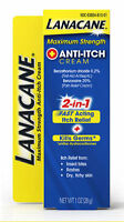 2 Pack - Lanacane Maximum Strength Anti-itch Medication Cream 1oz Each on Sale