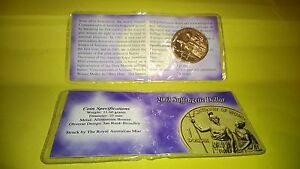 2003-suffragette-one-dollar-coin-UNC-in-folder-rare