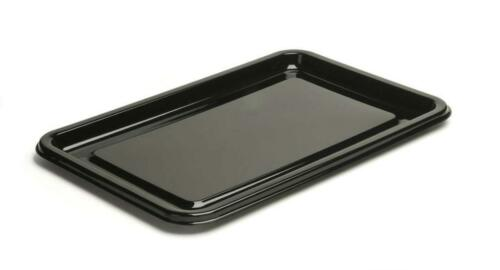 10 x Sabert Medium Black Plastic Rectangle Serving Buffet Platters 40x33cm
