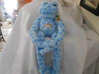 Peace & Love Plush Blue Froggy Lovey Soft Cute 17 Hang Long Legs