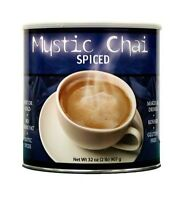 Mystic Chai Spiced Tea Hot Or Cold Instant Powder Drink Mix 2 Cans = 4 Lbs