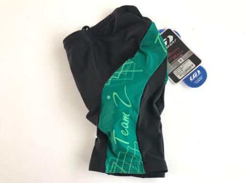 Size Extra Small XS Blk//Grn New Louis Garneau Women/'s STD Wrap Cycling Shorts