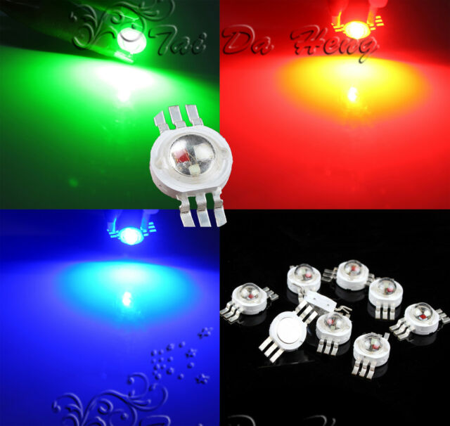 1~1000pcs lots 3W RGB 6 pin High Power Chip LED Bulb Diodes Light Lamp Beads
