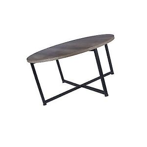 Distressed Gray Coffee Table.Household Essentials 8079 1 Ashwood Round Coffee Table Distressed Gray Brown