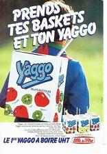 Publicité Advertising 037  1985  Elle & Vire  briquette yaourt yoggo à boire