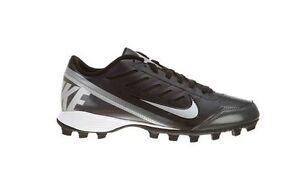 Nike Land Shark 2 Low Football Cleat Black Metallic Silver Tornado 511286-009