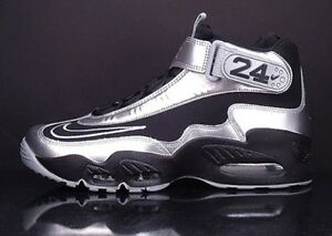 the latest e293b 7aa13 Image is loading Nike-Air-Griffey-Max-1-Black-Metallic-Silver-