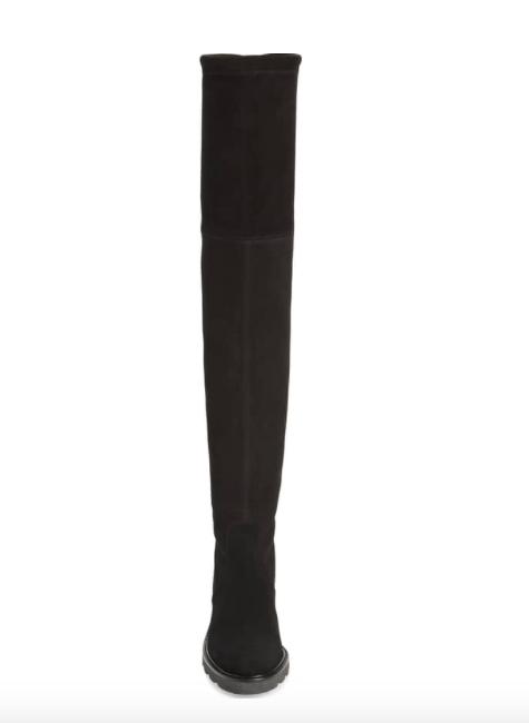 NEW  798 STUART WEITZMAN ELDRIDGE ELDRIDGE ELDRIDGE OVER THE KNEE OTK SUEDE STRETCH BOOT BLACK 10 9b54d8