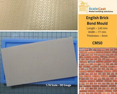 CM100 Flemish Brick Bond Mould  OO Gauge Model Railway Scenery