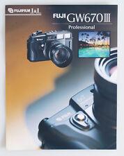 FUJIFILM GW670 III PRO INFO SHEET