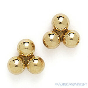 14kt-Solid-Yellow-White-Gold-Stud-Earrings-Polished-14k-14-kt-3-Ball-Bead-Studs