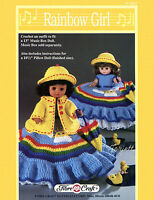 Rainbow Girl, Fibre-craft Crochet Patterns For 13 Doll & 8 Pillow Doll