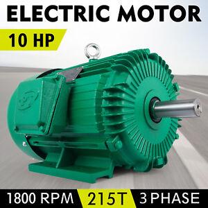 Electric Motor 3//4 HP 1 Phase 1800 RPM 5//8 inch shaft 115//230V Equipment TEFC