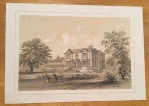 c1840-Yorkshire-House-Unidentified-Lithograph