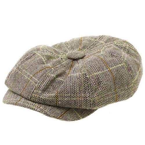 Men Newsboy Country Flat Cap Vintage Peaky Blinders Gatsby Cabblie Baker Boy Hat