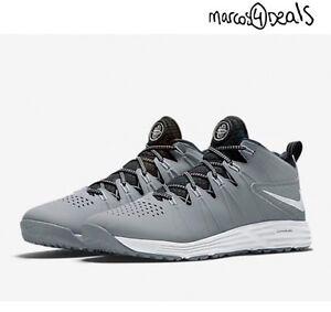 26fb5cdfb8050 Nike Men s Huarache 4 LAX Turf LE Lacrosse Shoes Grey 684699-011  95 ...